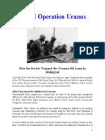 Mil Hist - WWII Operation Uranus