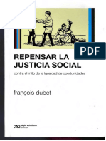 Dubet, F. (2011); Repensar la justicia social
