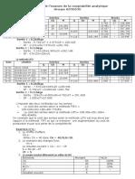Exercice de comptabilité analytique