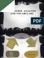Discourse analysis and vocabulary