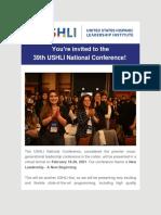 USHLI - Youre Invited to the 39th USHLI National Conference!