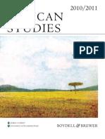 2010-2011 African Studies Catalogue