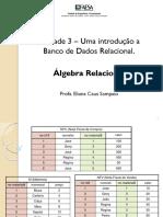 Unidade3_bdrelacional_AlgebraRelacional