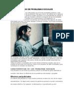 ANÁLISIS DE PROBLEMAS SOCIALES Y SALUD MENTAL