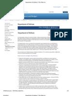 Department of Defense FY 2012 Budget Fact Sheet