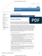 Department of Education FY 2012 Budget Fact Sheet