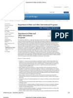 Department of State and Other International Programs FY 2012 Budget Fact Sheet