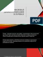 Fazovaya Differentsiatsia v Pochvakh - Nasyrov