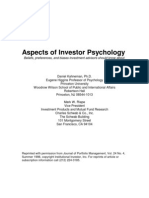 Aspects of Investor Psycology