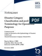 disaster category