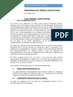 Análisis de Jurisprudencia Del Tribunal Constitucional