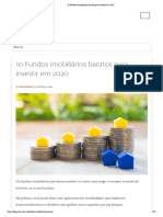 10 Fundos imobiliários baratos para investir em 2020