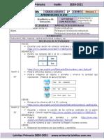 Noviembre - 1er Grado Inglés (2020-2021)