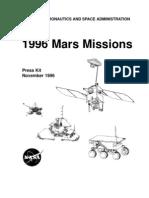 1996 Mars Missions Press Kit