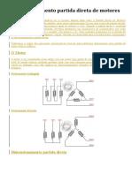Dimensionamento partida direta de motores