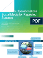 How Cisco Operationalizes Social Media for Repeated Success�