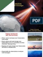 Astronomie Neutrino haute energie