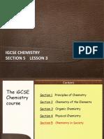 IGCSE Chemistry Section 5 Lesson 3