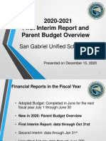 first interium budget report
