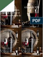 Carta de vinos frances