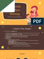 Awesome Teachers Meeting by Slidesgo