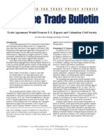 Trade Agreement Would Promote U.S. Exports and Colombian Civil Society, Cato Free Trade Bulletin No. 44