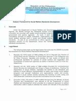 framework for social welfare standards development