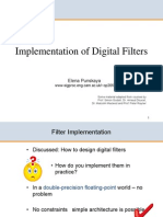 3F3 7 Implementation of Digital Filters