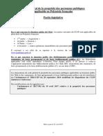 CG3P applicables en PF maj avril 2017