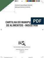 CARTILHA MANIPULADOR DE ALIMENTOS INDÚSTRIA