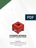 Presupuesto Danilo Rojas - Vivienda 70 m2