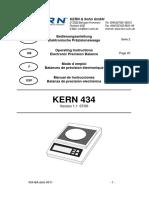 Kern 434 Precision Balance - Bedienungsanleitung