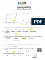 BASELINE ASSESSMENT - Aptitude & Reasoning  - VI