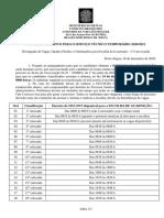 ESCOLHA DE GUARNICAO - CRONOGRAMA