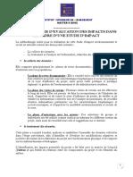 Methodologie d'evaluation des impacts EI