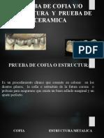 PRUEBA DE COFIA O ESTRUCTURA, CERAMICA