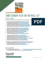 Shari Blaukopf Plein Air Watercolor Materials_List