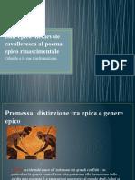 Dall'Epica Medievale Cavalleresca Al Poema Epico Rinascimentale