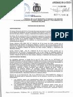 TRATAMIENTO DE RESIDUOS SÓLIDOS. Ley Municipal 271/2018