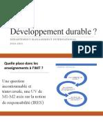 Développement durable Management international