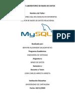 Taller Practico BD - Taller  DDL-SQL - MOTOR - MySQL