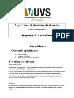 Algorithme et structure de données_Séquence 2