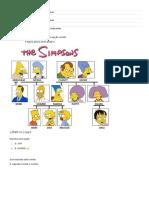 Atividade de Inglês - Simpsons Family Quiz