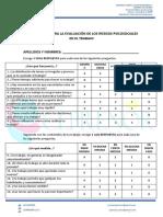 CUESTIONARIO PARA LA EVALUACIÓN DE LOS RIESGOS PSICOSOCIALES EN EL TRABAJO