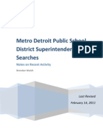 Notes on Recent Superintendent Searches