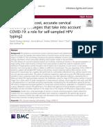 self-sampling HPV cervical cancer