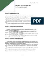 APPLICATION ET EXIGIBILITE DES DROITS D ENREGISTREMENTS