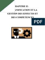 LA PLANIFICATION ET LA GESTION DES EFFECTIFS ET DES COMPETENCES