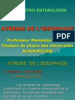 HEPATOGASTRO ENTEROLOGIE ATRESIE DE L'OESOPHAGE.ppt