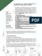 Acta Comite Intercentros con la empresa sin CC.OO. y UGT